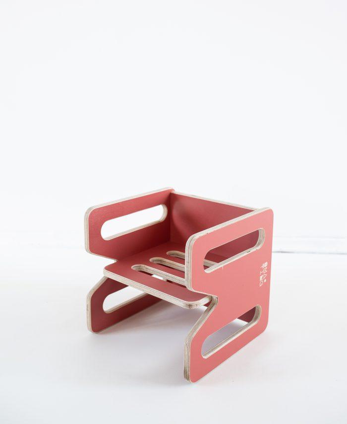 Mebelki edukacyjne dla dzieci ze sklejki kubi. Krzesełko, tolik KUBI.MINI w kolorze Nectar