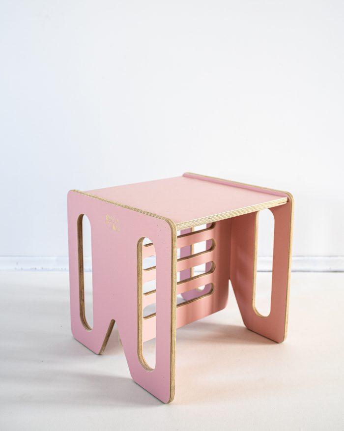 Mebelki edukacyjne dla dzieci ze sklejki kubi. Stolik, krzeselko KUBI.MAX