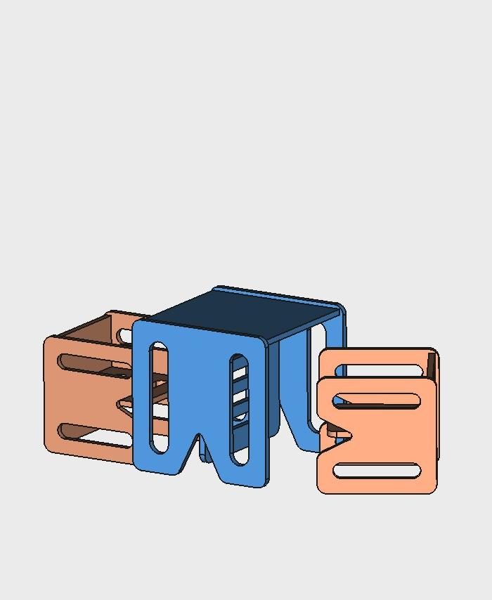 Mebelki edukacyjne dla dzieci ze sklejki kubi. Zestaw set