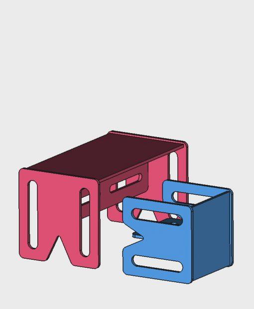 Mebelki edukacyjne dla dzieci ze sklejki kubi.